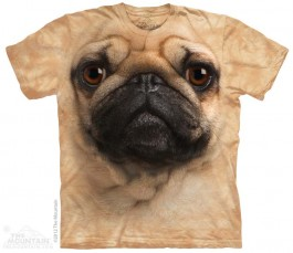 The Mountain Pug Face Mops Shirt Hunde Shirt Baumwoll Dog Shirt Geschenkidee-31