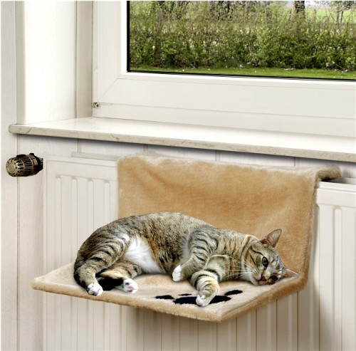 kitty siesta katzen heizk rperliege beige 46x30x23cm. Black Bedroom Furniture Sets. Home Design Ideas