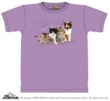 The Mountain T-Shirt Kitten Row (Glitter Print) Katzenmotiv T Shirt Baumwoll T Shirt Geschenkidee