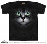 The Mountain T-Shirt Emerald Eyes Katzenmotiv T Shirt Baumwoll T Shirt Geschenkidee
